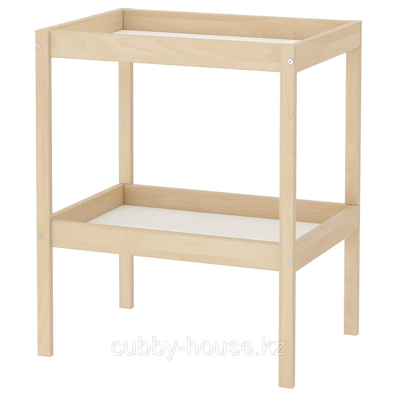 СНИГЛАР Пеленальный стол, бук, белый, 72x53 см