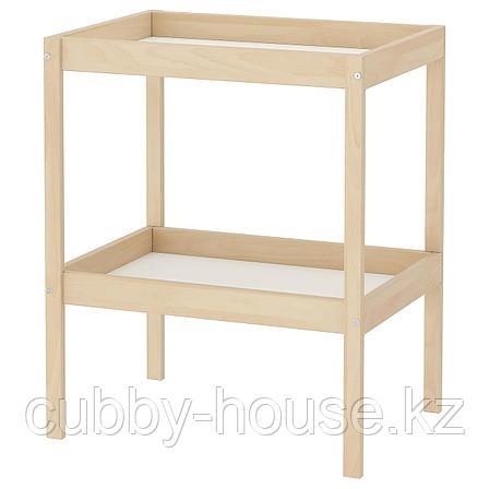СНИГЛАР Пеленальный стол, бук, белый, 72x53 см, фото 2