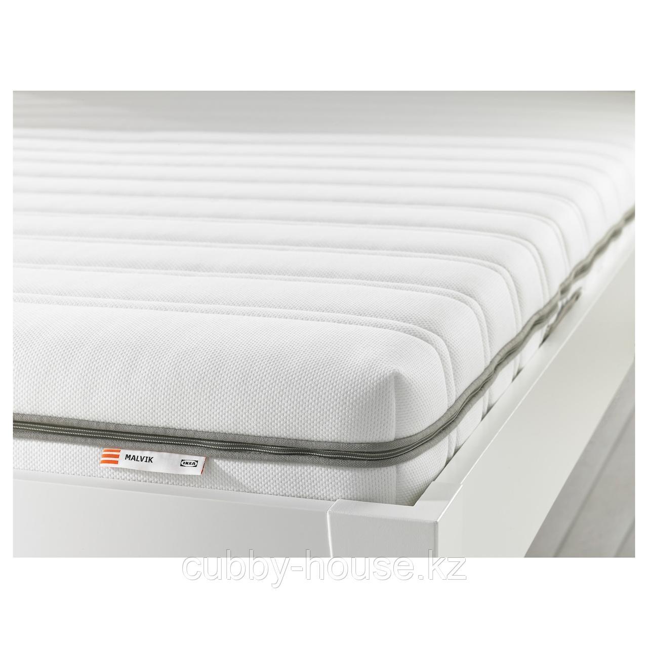 МАЛВИК Пенополиуретановый матрас, жесткий, белый, 90x200 см