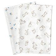 РЁДХАКЕ Муслиновый лоскут, орнамент «кролики/черника», белый, 70x70 см