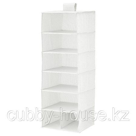 СТУК Модуль для хранения/7 отделений, белый/серый, 30x30x90 см, фото 2