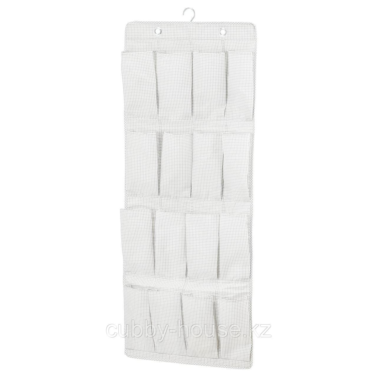СТУК Подвесной модуль д/обуви/16карманов, белый/серый, 51x140 см