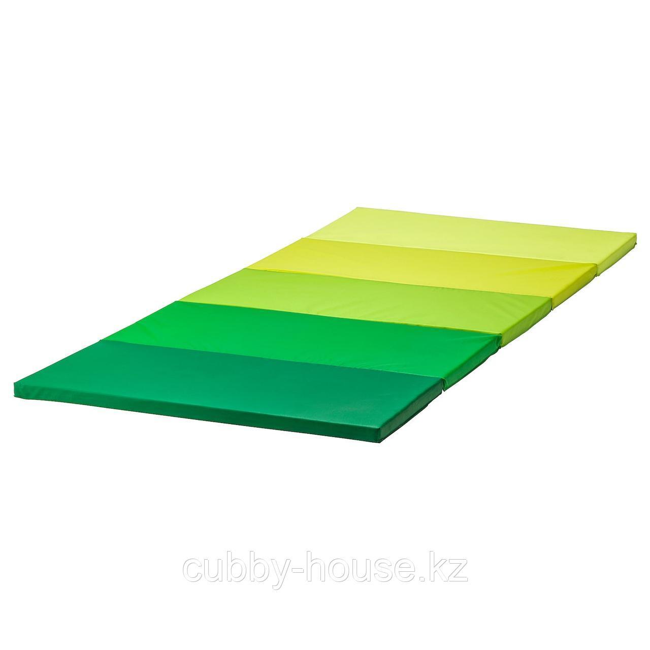 ПЛУФСИГ Складной гимнастический коврик, зеленый, 78x185 см
