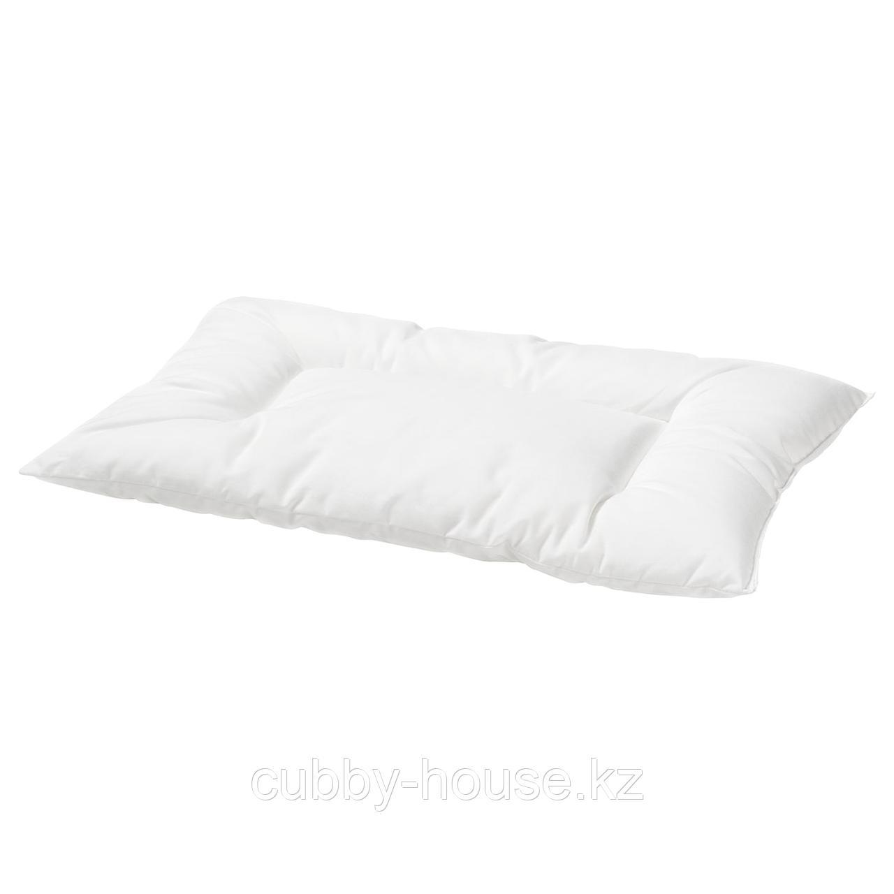 ЛЕН Подушка для детской кроватки, белый, 35x55 см