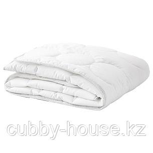 ЛЕНАСТ Одеяло в детскую кроватку, белый, серый, 110x125 см, фото 2