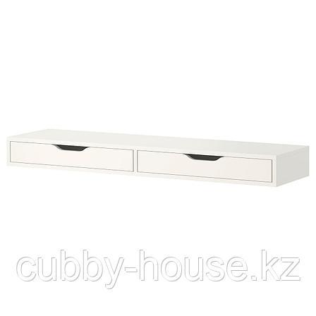 ЭКБИ АЛЕКС Полка с ящиками, белый, 119x29 см, фото 2