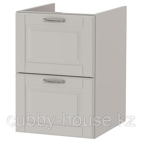 ГОДМОРГОН Шкаф для раковины с 2 ящ, Кашён светло-серый, 40x47x58 см, фото 2