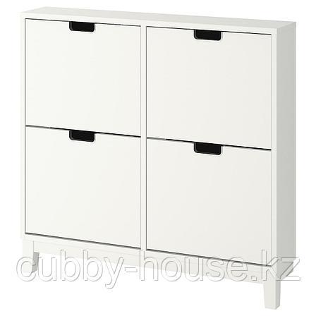 СТЭЛЛ Галошница, 4 отделения, белый, 96x90 см, фото 2