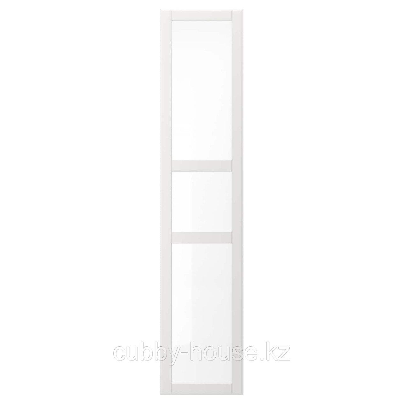 ТИССЕДАЛЬ Дверь, белый, стекло, 50x229 см