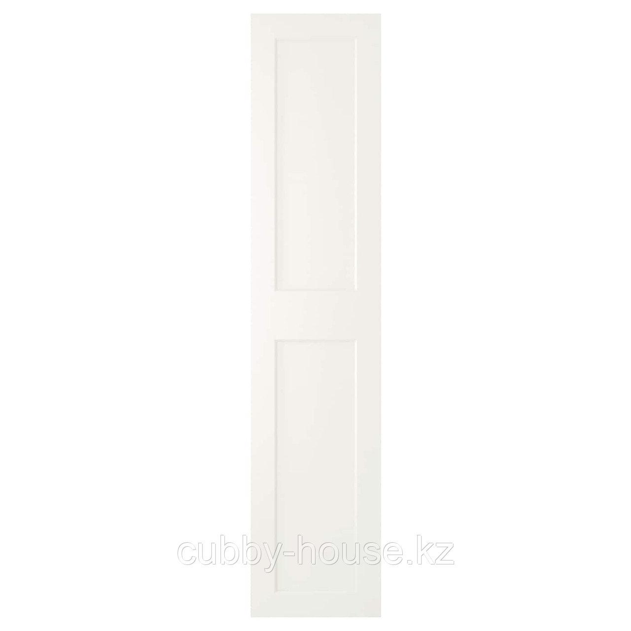 ГРИМО Дверца с петлями, белый, 50x229 см