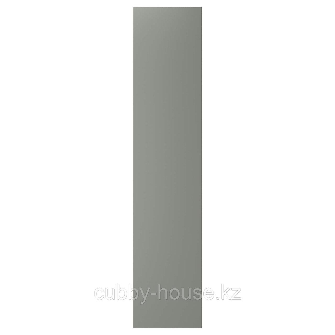 РЕИНСВОЛЛ Дверца с петлями, серо-зеленый, 50x229 см
