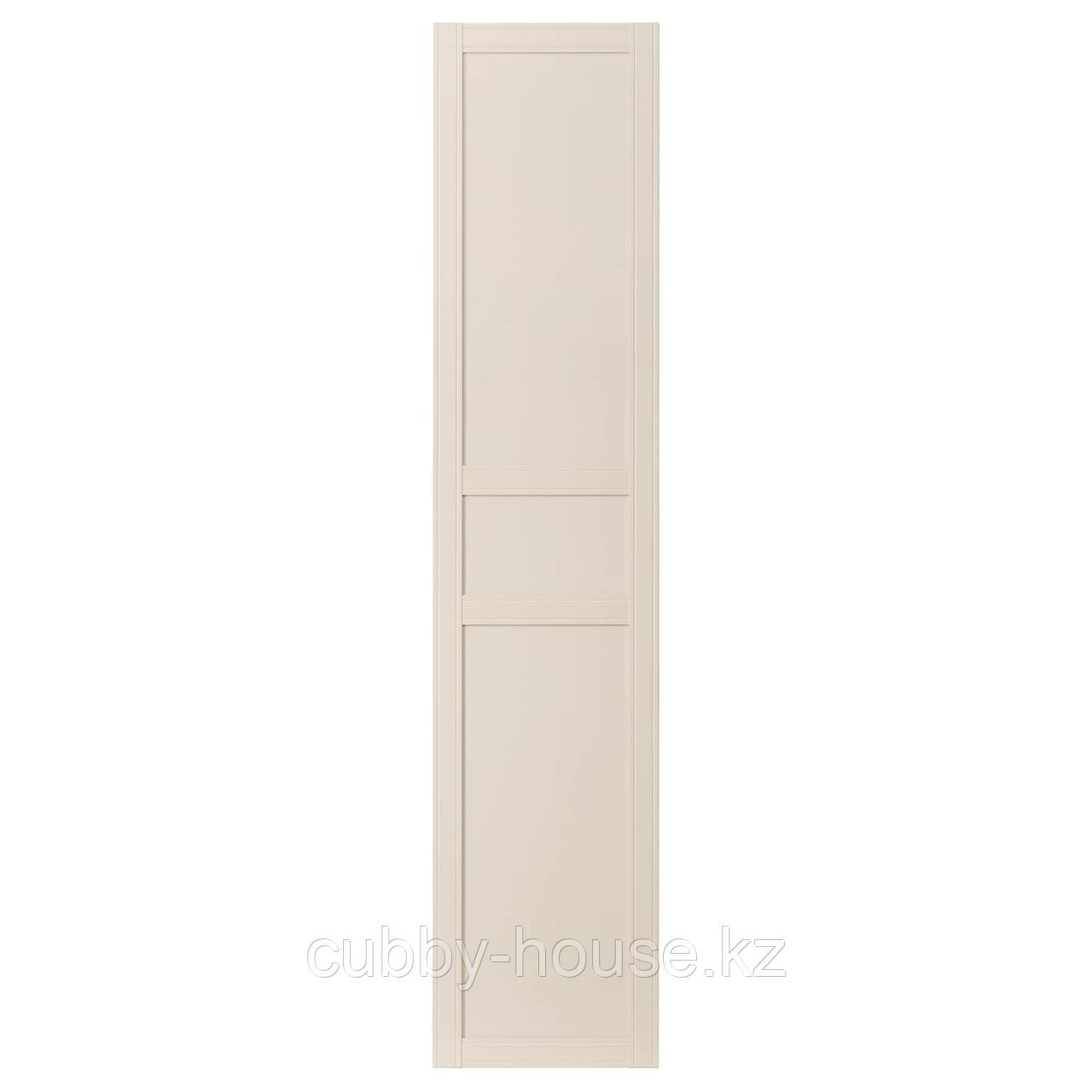 ФЛИСБЕРГЕТ Дверца с петлями, светло-бежевый, 50x229 см