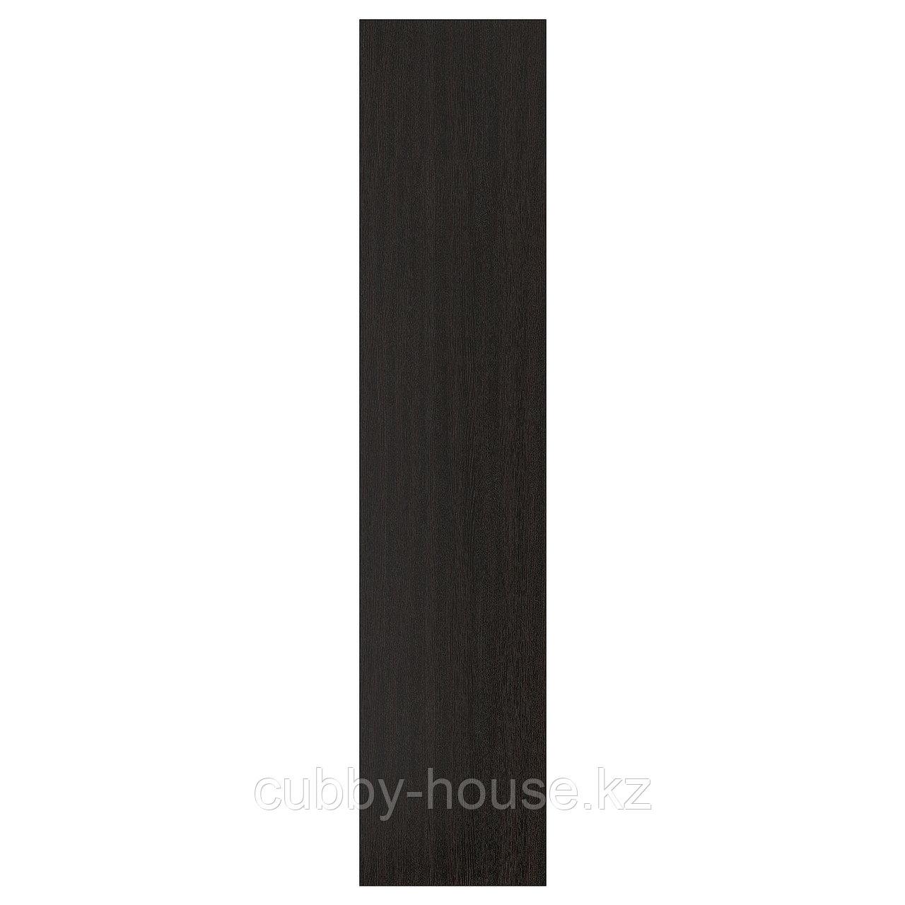 ФОРСАНД Дверца с петлями, под мореный ясень, черно-коричневый, 50x229 см