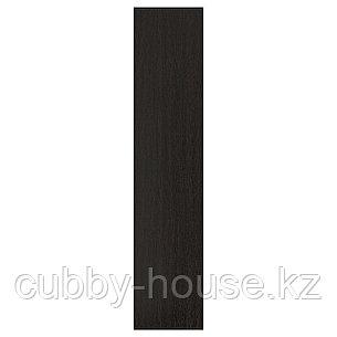 ФОРСАНД Дверца с петлями, под мореный ясень, черно-коричневый, 50x229 см, фото 2