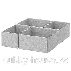 КОМПЛИМЕНТ Коробка, 4 шт., светло-серый, 50x58 см, фото 2