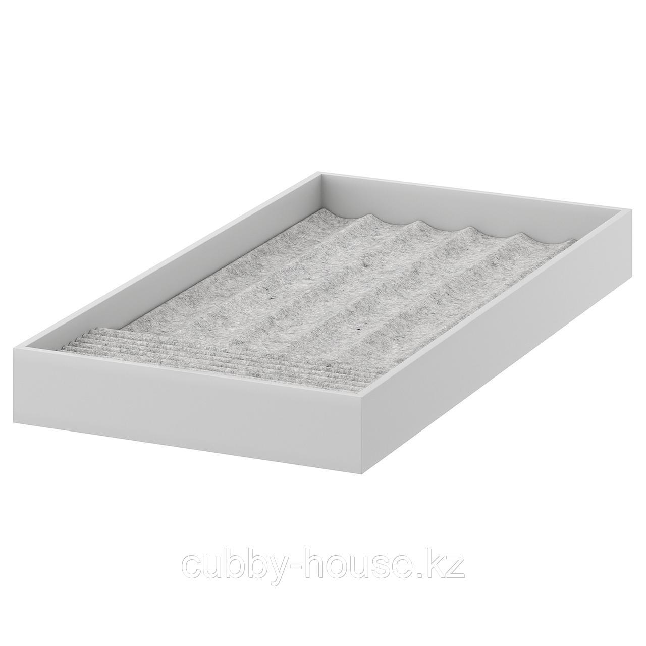 КОМПЛИМЕНТ Вставка для украшений, светло-серый, 25x53x5 см