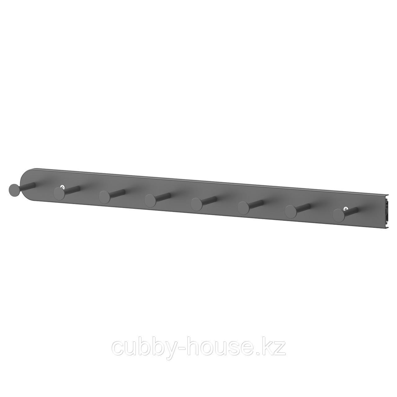 КОМПЛИМЕНТ Выдвижная многофункцион вешалка, темно-серый, 58 см