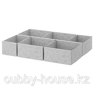 КОМПЛИМЕНТ Коробка, 6 шт., светло-серый, 75x58 см, фото 2