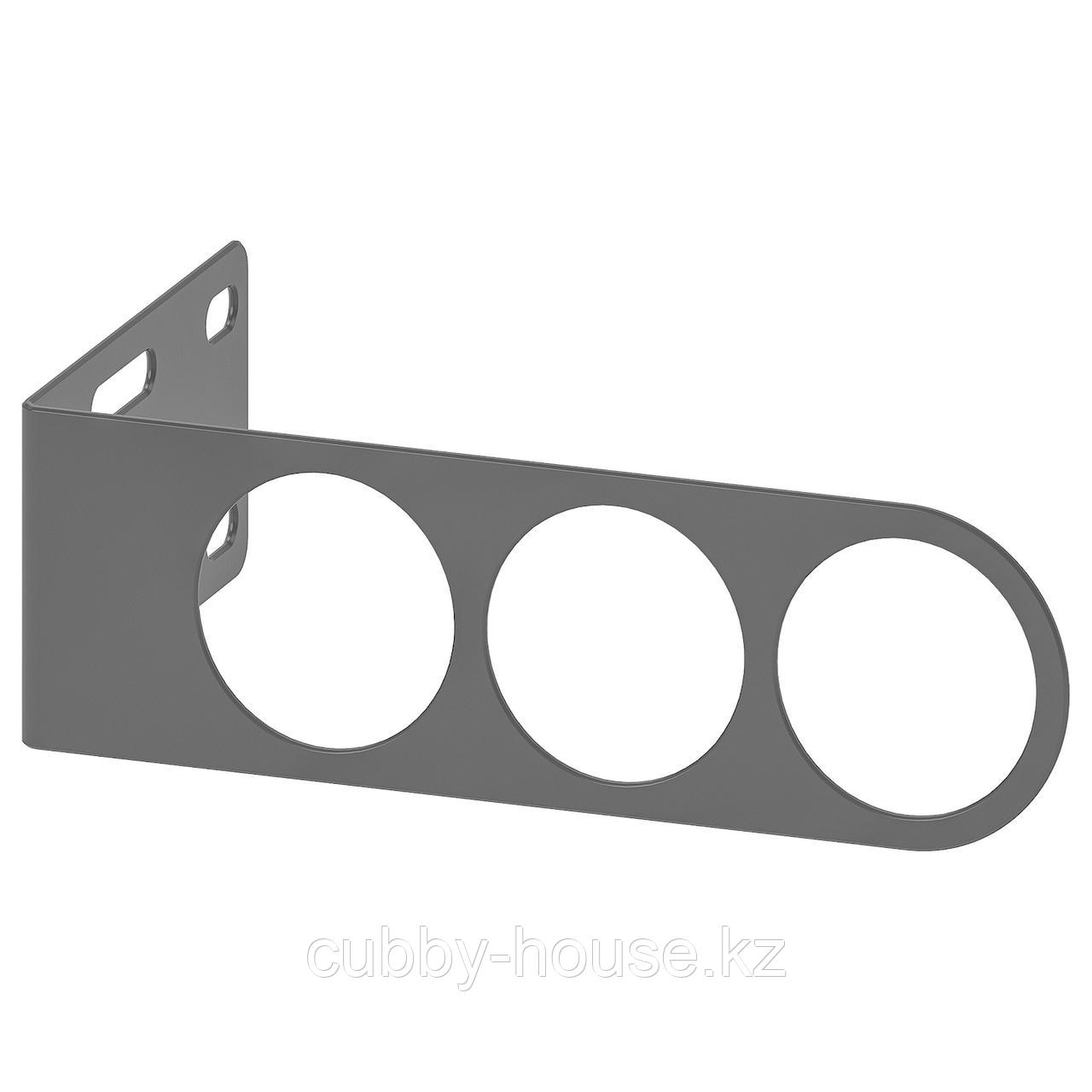 КОМПЛИМЕНТ Вешалка для плечиков, темно-серый, 17x5 см