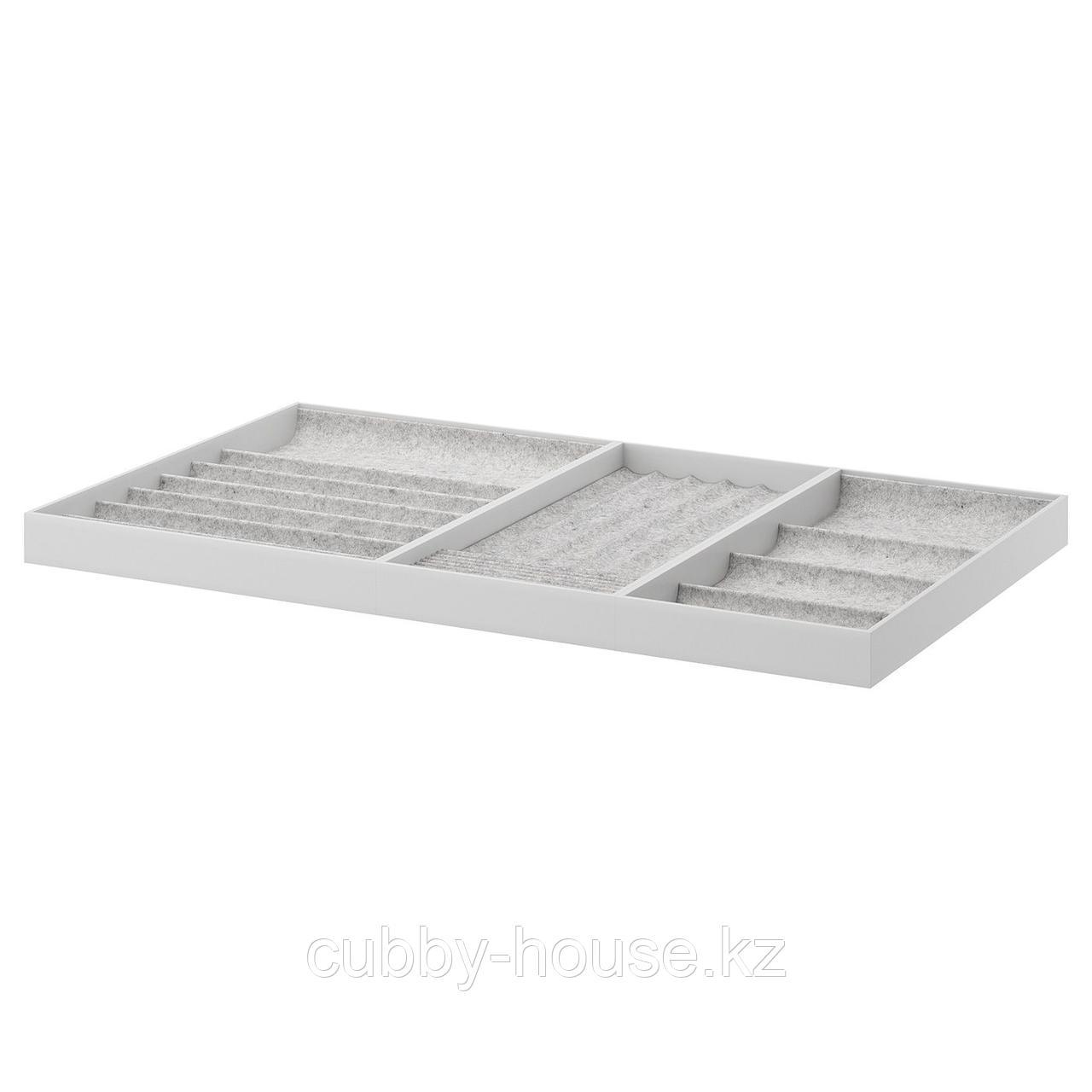 КОМПЛИМЕНТ Вставка для выдвижной полки, светло-серый, 100x58 см