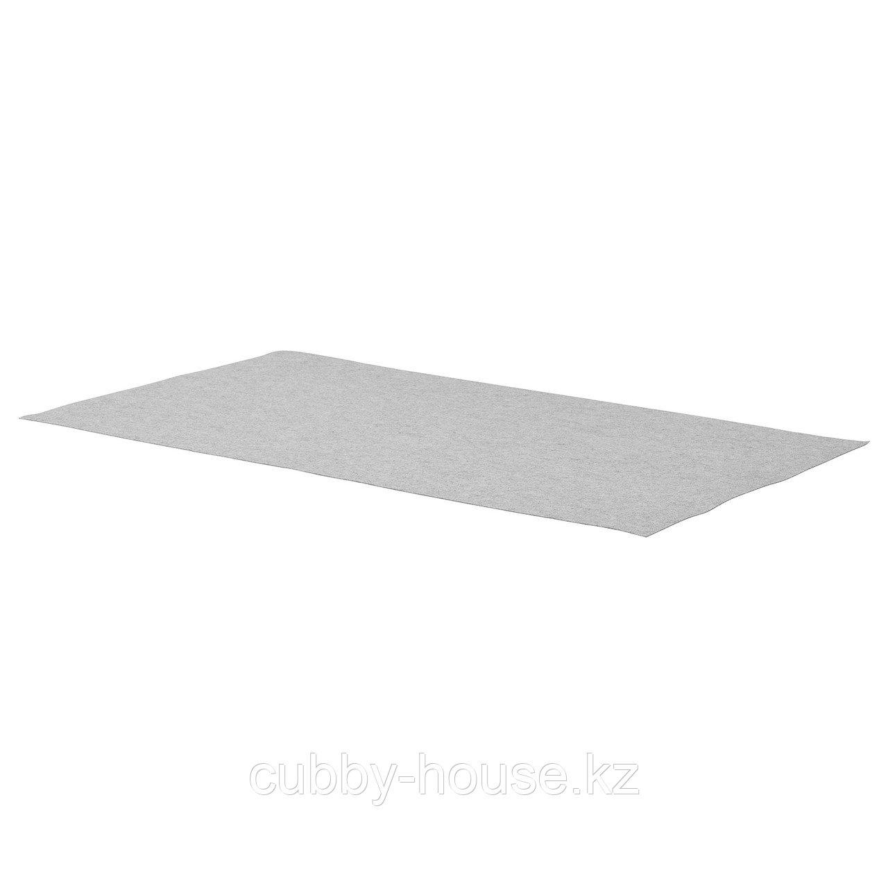 КОМПЛИМЕНТ Коврик в ящик, светло-серый, 90x53 см
