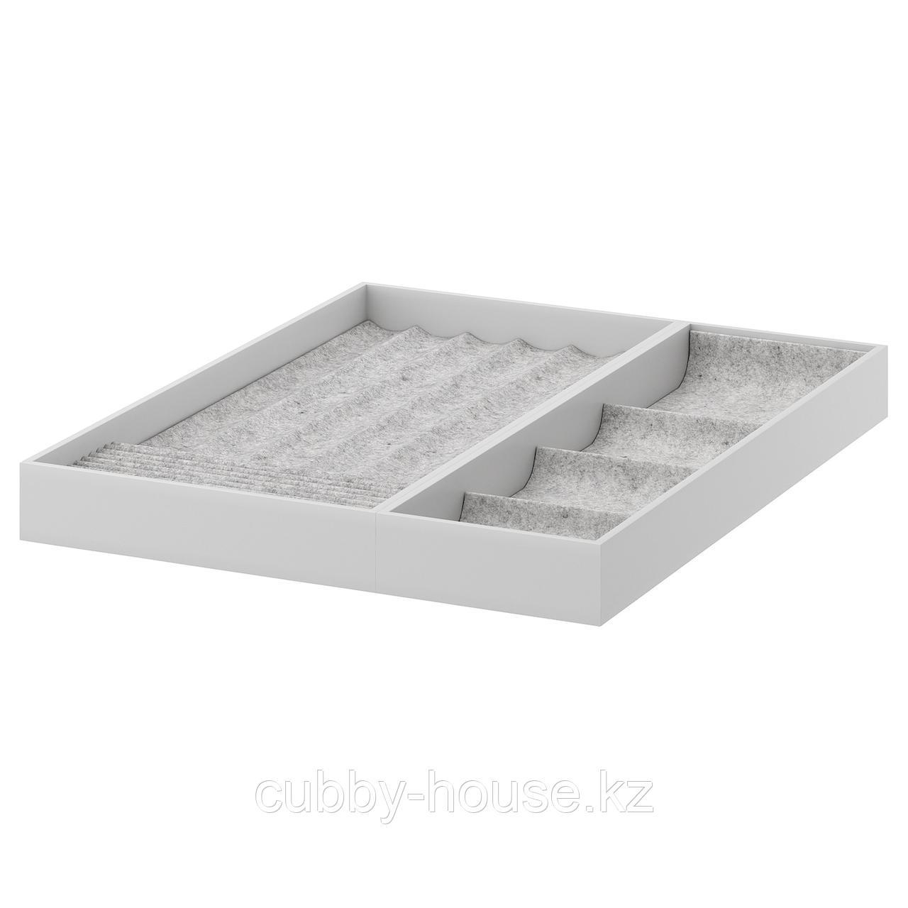 КОМПЛИМЕНТ Вставка для выдвижной полки, светло-серый, 50x58 см