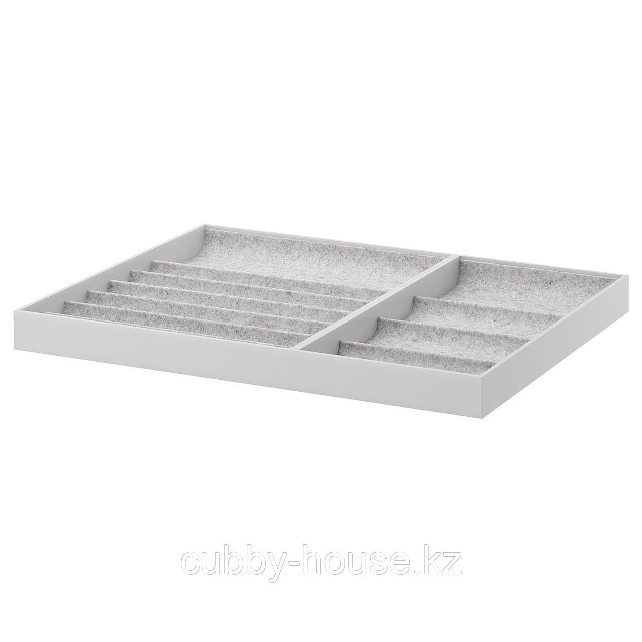 КОМПЛИМЕНТ Вставка для выдвижной полки, светло-серый, 75x58 см