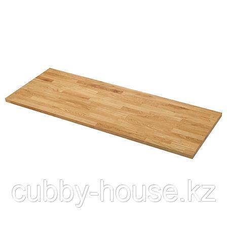 КАРЛБИ Столешница, дуб, шпон, 186x3.8 см, фото 2
