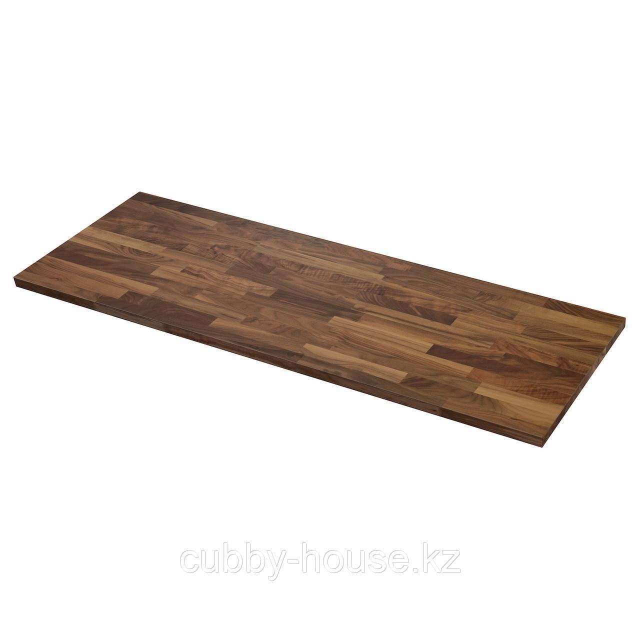 КАРЛБИ Столешница, грецкий орех, шпон, 186x3.8 см