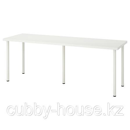 ЛИННМОН / АДИЛЬС Стол, белый, 200x60 см, фото 2