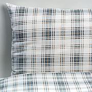 НОРДРУТА Пододеяльник и 1 наволочка, серый, синий, 150x200/50x70 см