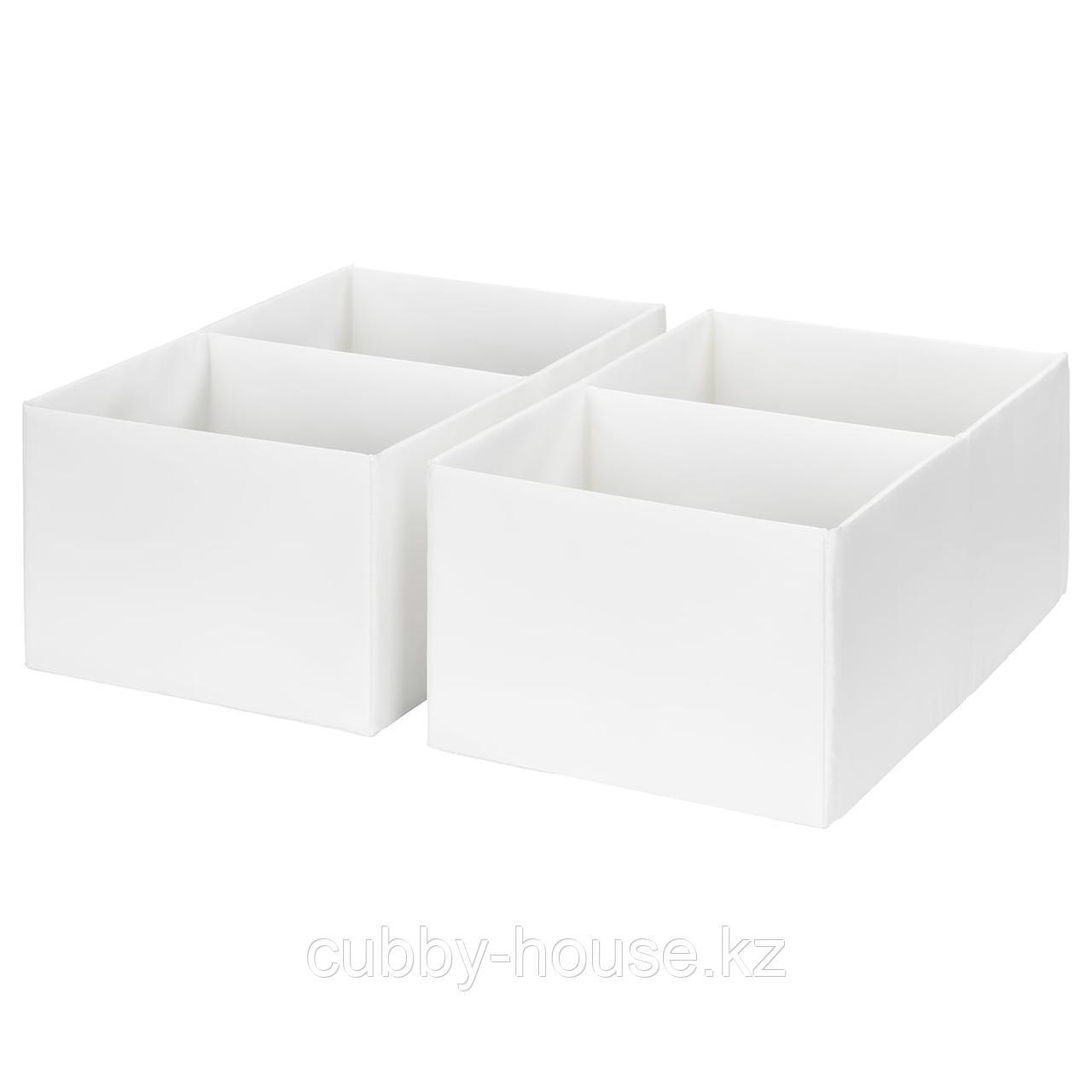 РАССЛА Ящик с отделениями, белый, 25x41x16 см
