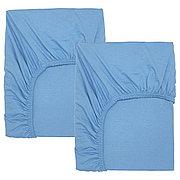 ЛЕН Простыня натяжн для кроватки, голубой, 60x120 см