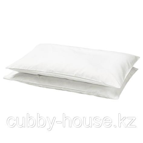 ЛЕН Наволочка в детскую кроватку, белый, 35x55 см, фото 2