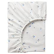 РЁДХАКЕ Простыня натяжн для кроватки, белый, орнамент «черника», 60x120 см