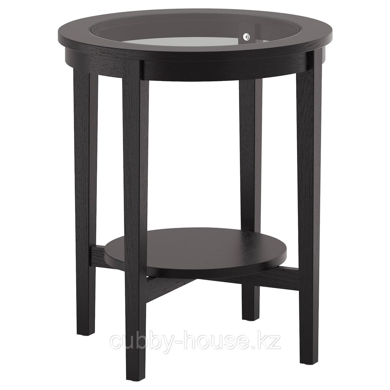 МАЛМСТА Придиванный столик, черно-коричневый, 54 см