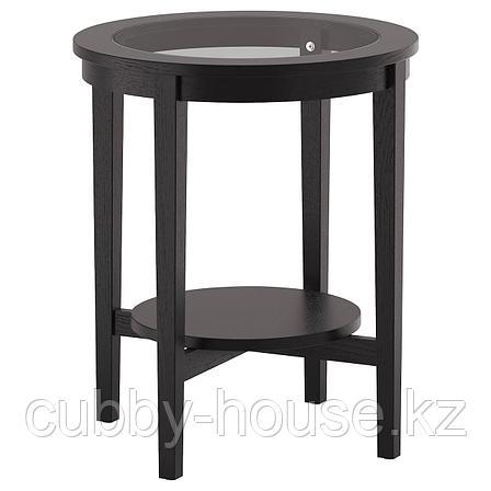 МАЛМСТА Придиванный столик, черно-коричневый, 54 см, фото 2
