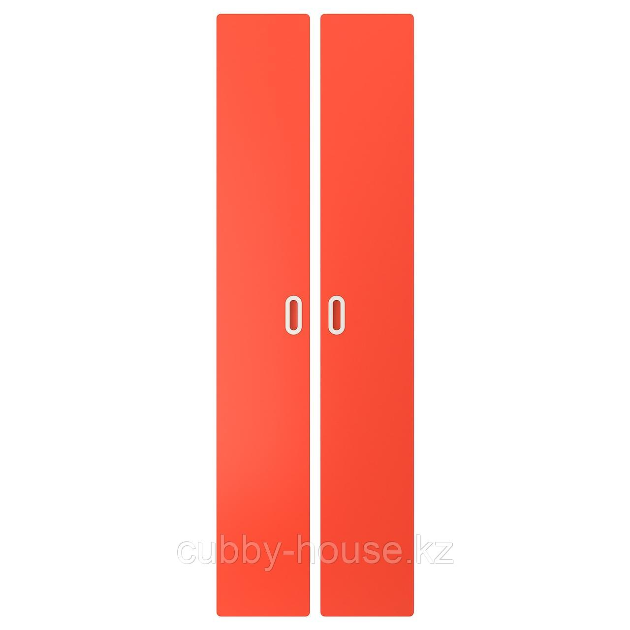 ФРИТИДС Дверь, красный, 60x192 см 2 шт