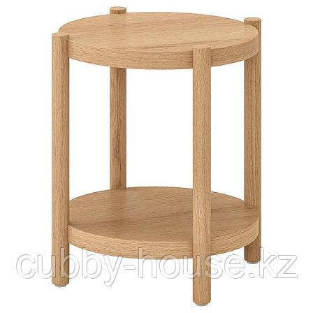 ЛИСТЕРБИ Придиванный столик, белая морилка дуб, 50 см, фото 2