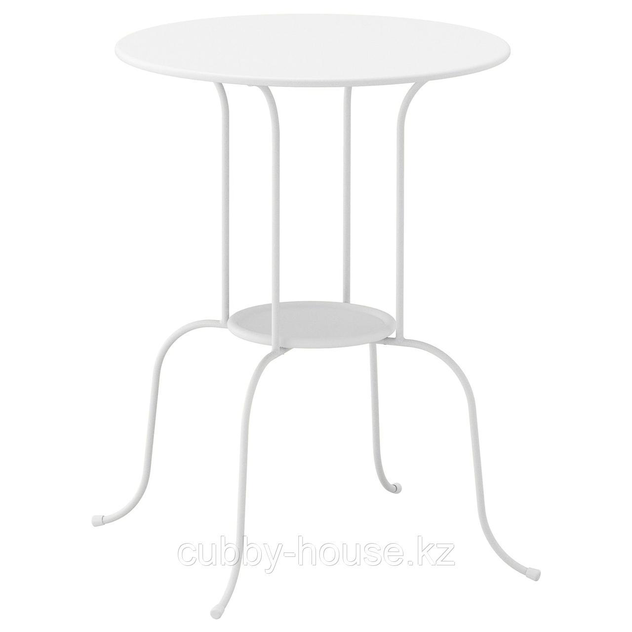 ЛИНДВЕД Придиванный столик, белый, 50x68 см