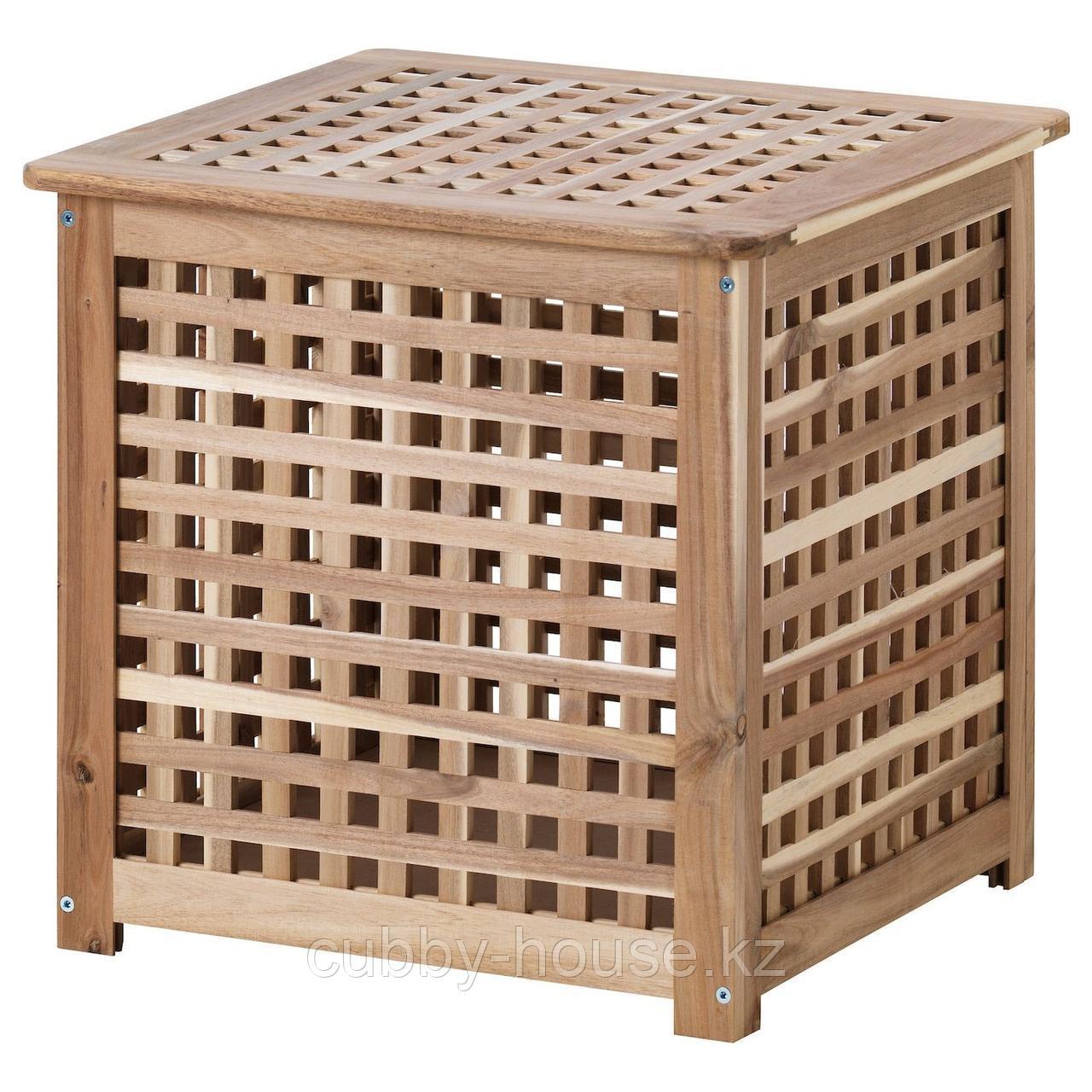 ХОЛ Придиванный столик, акация, 50x50 см