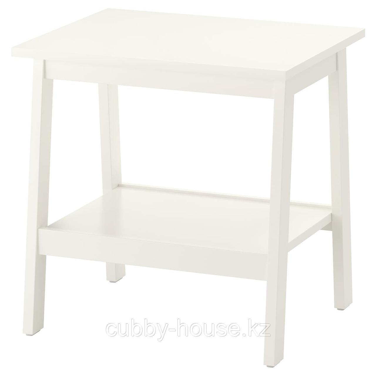ЛУНАРП Придиванный столик, белый, 55x45 см