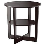 ВЕЙМОН Придиванный столик, черно-коричневый, 60 см