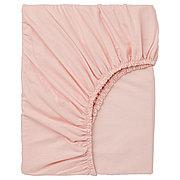 ДВАЛА Простыня натяжная, светло-розовый, 90x200 см