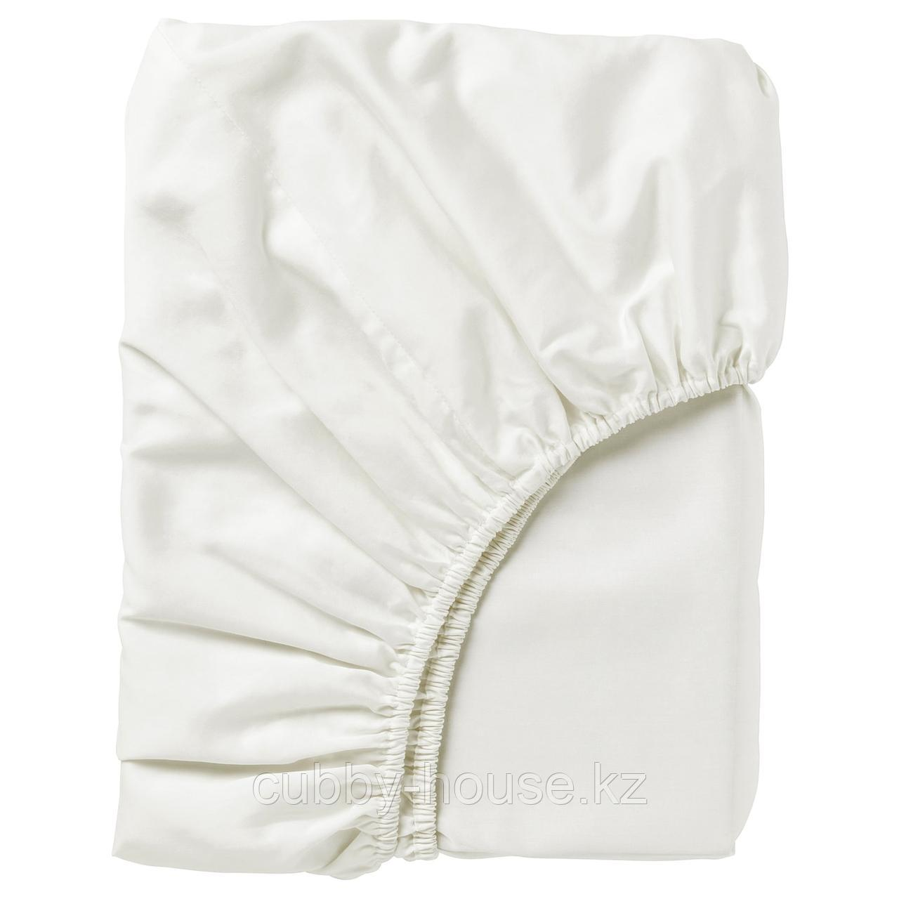 НАТТЭСМИН Простыня натяжная, белый, 90x200 см