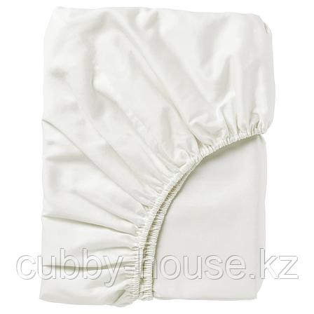 НАТТЭСМИН Простыня натяжная, белый, 90x200 см, фото 2