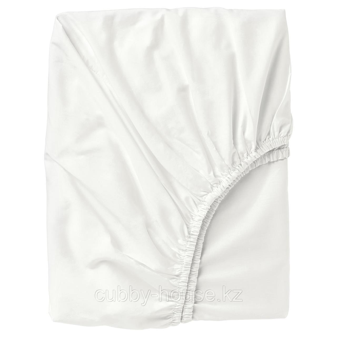 УЛЛЬВИДЕ Простыня натяжная, белый, 140x200 см