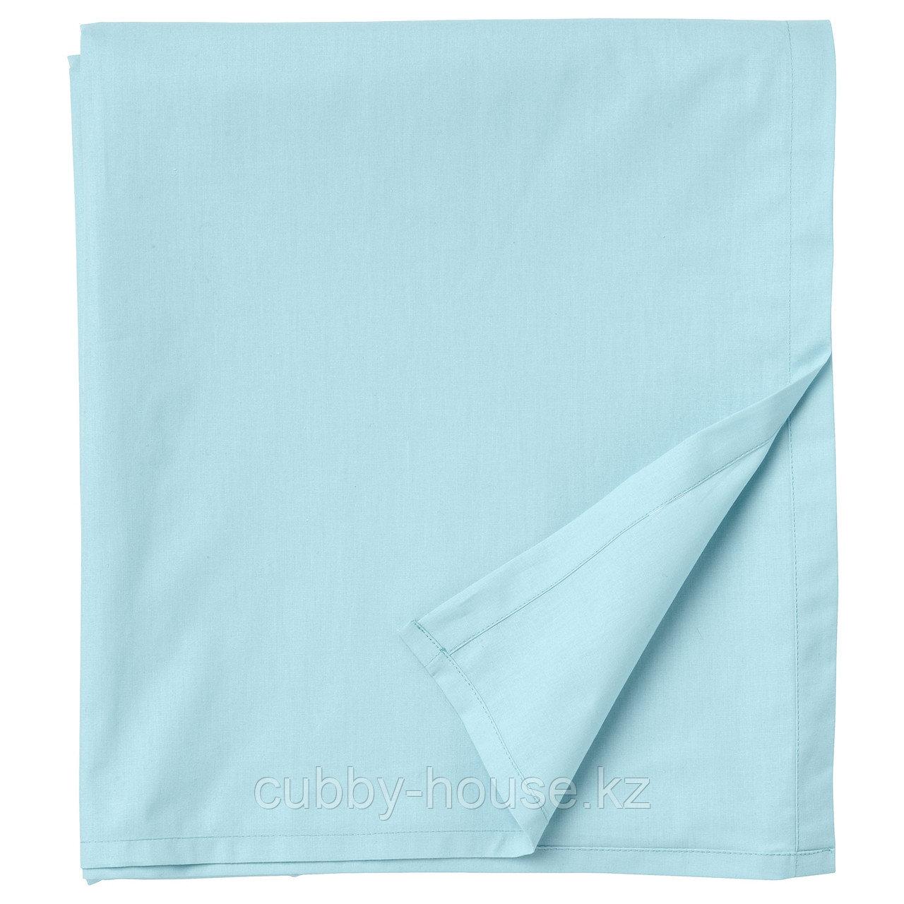 ДВАЛА Простыня, голубой, 240x260 см