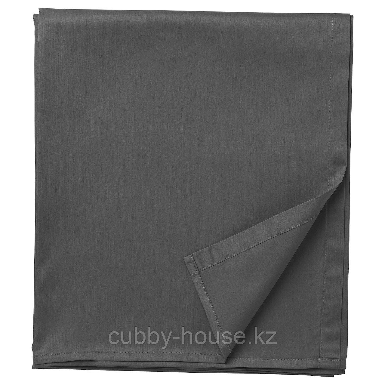 НАТТЭСМИН Простыня, темно-серый, 240x260 см