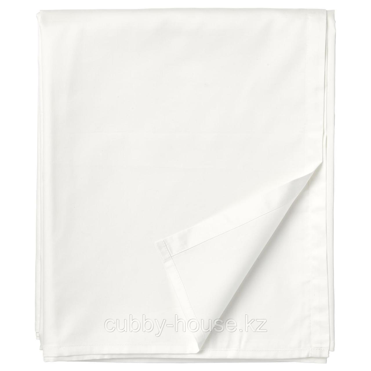 НАТТЭСМИН Простыня, белый, 240x260 см
